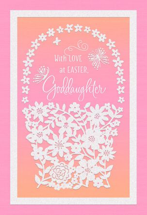 Flower Basket Easter Card for Goddaughter