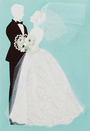 A Happy Ending for You Wedding Card