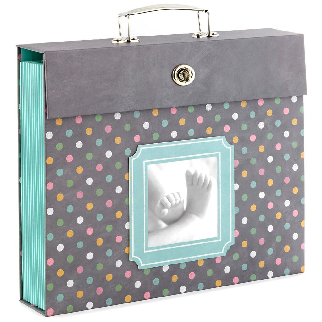 c056326a6 Polka Dot Baby Accordion File Folder Organizer - Photo Albums - Hallmark