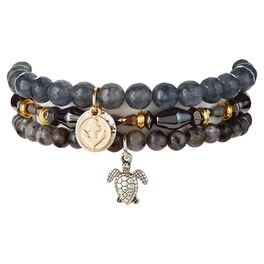 Chavez for Charity Slate Gray Labradorite Bracelets, Set of 3, , large