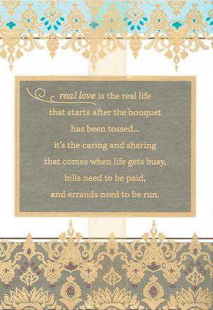 Real Love, Real Life Wedding Card