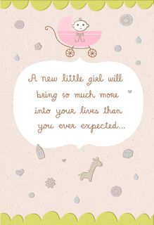 Mazel Tov! Little Girl New Baby Card,