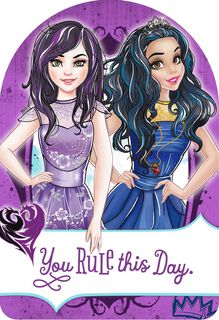 Disney Descendants Mal and Evie You Rule Just Because Card,