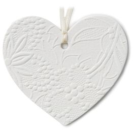 Embossed Heart Gift Trim With Ribbon, , large