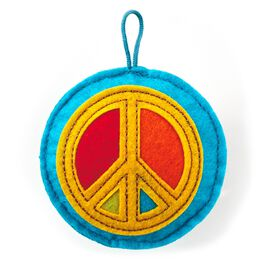 Recordable Peace Sign Sound Charm Token, , large