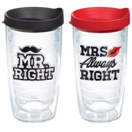Tervis® Mr. Right & Mrs. Always Right 2-pack Tumbler Gift Set, 16 oz., , large