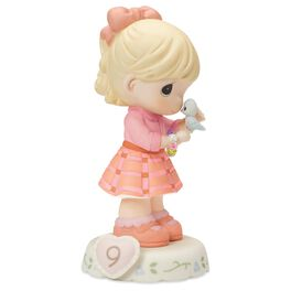 Precious Moments® Growing in Grace—Age 9 Blonde Girl Porcelain Figurine, , large