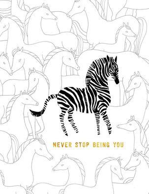 Zebra Be You Birthday Card