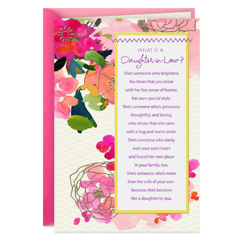 Fantastic Generous And Loving Birthday Card For Daughter In Law Greeting Funny Birthday Cards Online Elaedamsfinfo