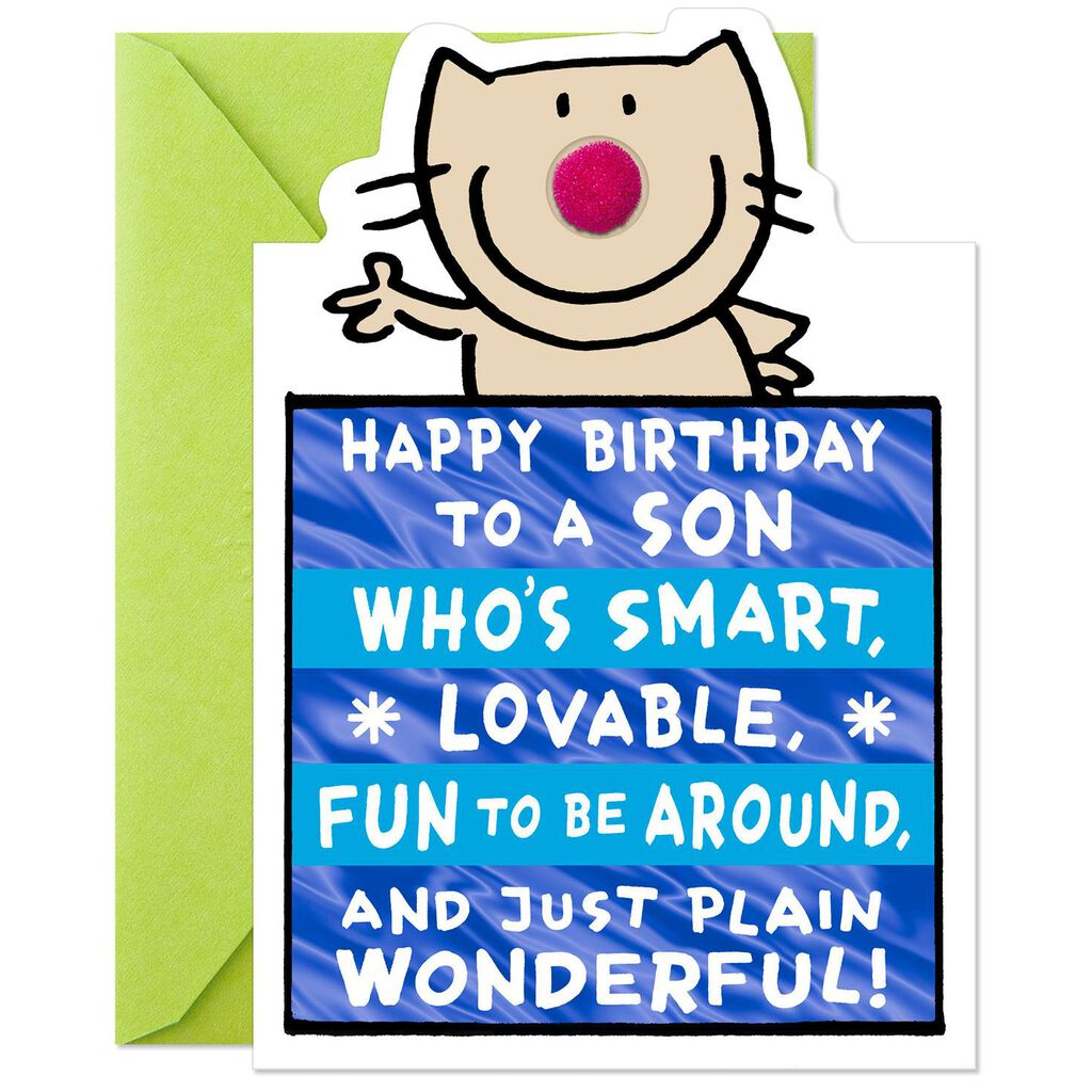 Lovable And Fun Funny Birthday Card For Son
