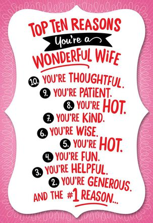 You're Hot! Funny Sweetest Day Card for Wife