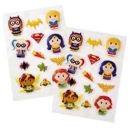 itty bittys® DC SUPER HERO GIRLS™ Puffy Stickers, Pack of 24, , large