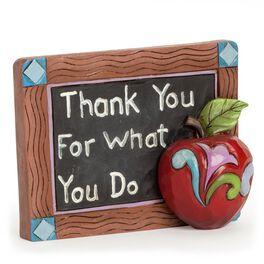 Jim Shore Mini Teacher Chalkboard Figurine, , large