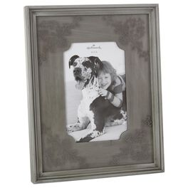 Gray Embossed Wood 4x6 Picture Frame, , large
