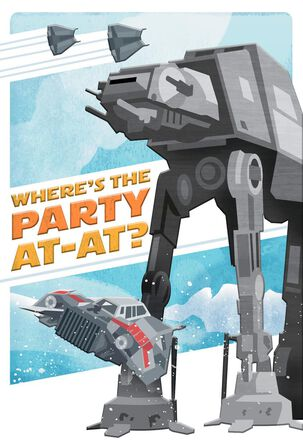 Star Wars™ Where's the Party AT-AT? Birthday Card