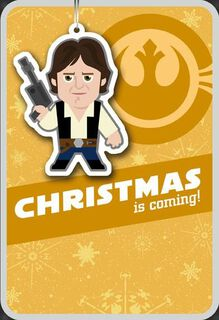 Merry Blaster Han Solo™ Christmas Card,