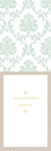 His Majesty Arrives Baby Card,