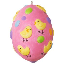 Cute Chicks Easter Egg Ornament, , large