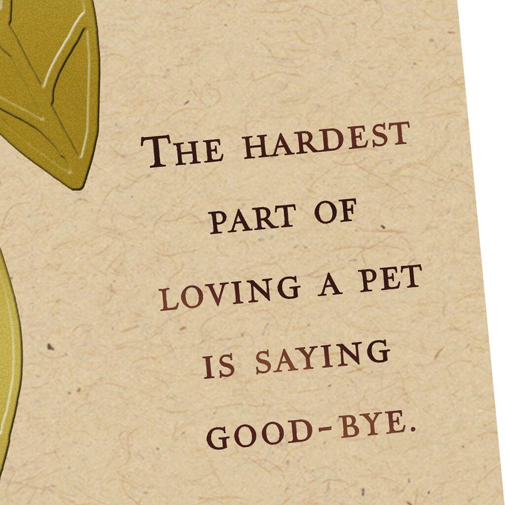 Loss Of Pet >> Saying Good Bye Sympathy Card For Loss Of Pet