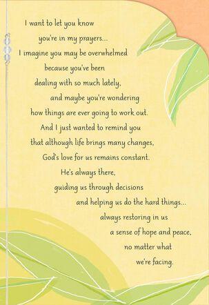 God Is Near Religious Encouragement Card