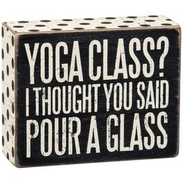 Primitives by Kathy Pour a Glass Box Sign, , large