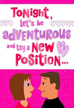 Be An Adventurous Couple Valentine's Day Card