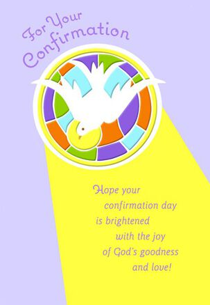 God's Dove Confirmation Religious Card