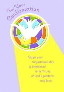 God's Dove Confirmation Religious Card,