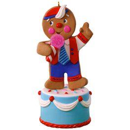 Gingerbread Joker Sound Ornament, , large