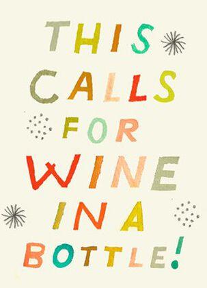 Wine in a Bottle Congratulations Card