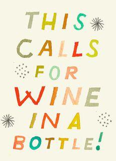 Wine in a Bottle Congratulations Card,