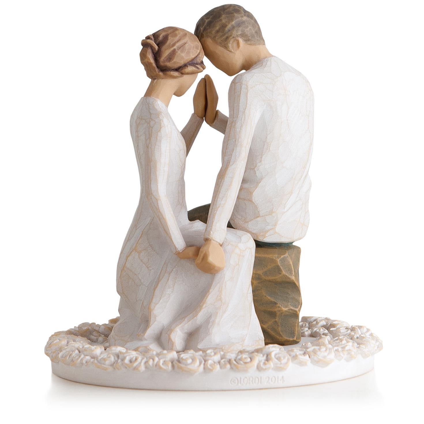 Willow Tree® Around You Figurine & Wedding Cake Topper - Figurines ...