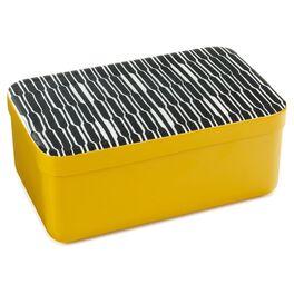 Yellow Decorative Lidded Metal Nesting Box, Medium, , large