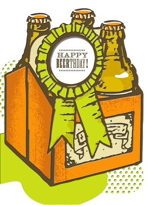 Bottles of Beer Birthday Card