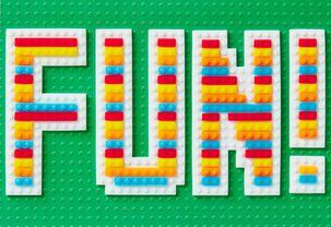 Fun with Building Blocks Birthday Card