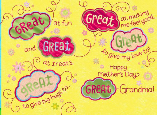 Smiling Flowers Mother's Day Card for Great-Grandma,
