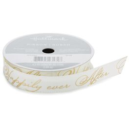 "Happily Ever After 5/8"" Grosgrain Ribbon, 4.3 yards, , large"