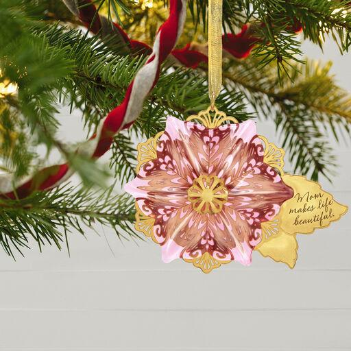 c00bc082b5ba Beautiful Mom Flower Glass and Metal Ornament