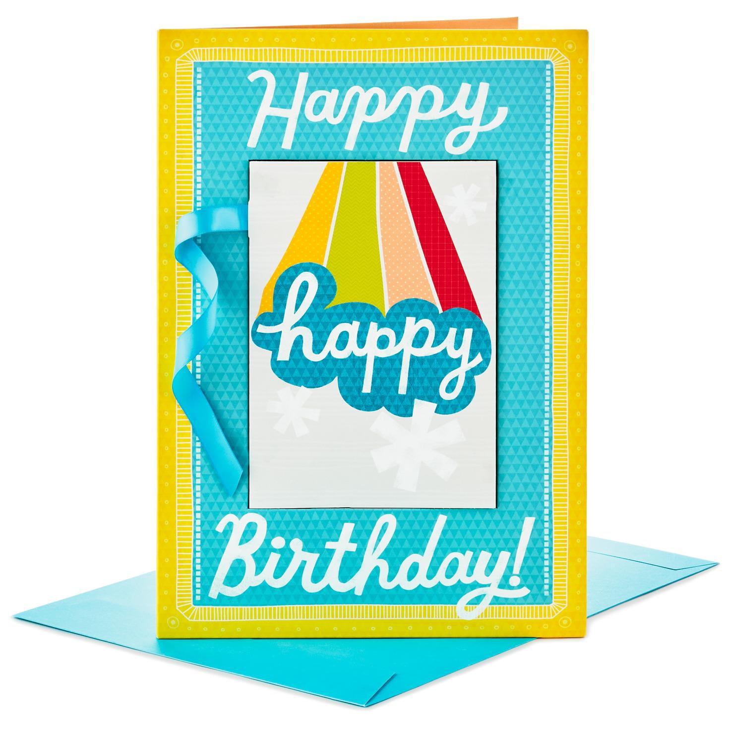 "Happy B Day to U Banner Jumbo Birthday Card 16"" Greeting Cards"