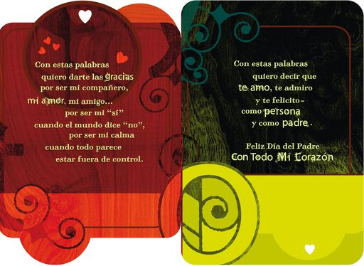 For the Man I Love Romantic Spanish-Language Father's Day Card,