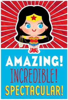 Wonder Woman™ Celebrate Today Musical Birthday Card,