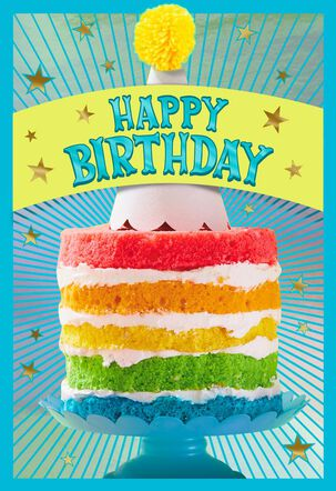 Happy on Top Birthday Card