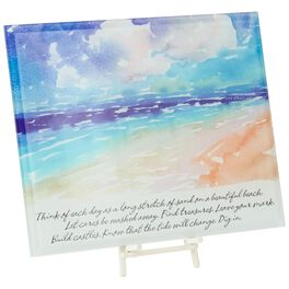 Dig In the Sand Glass Plaque, , large