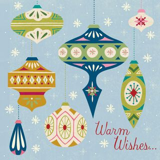 Warm Wishes, Cool Musical Christmas Card,