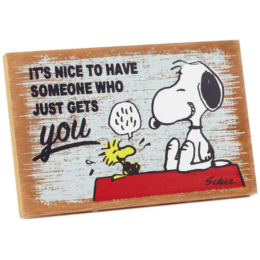 5cec378141 Peanuts® Someone Who Gets You Wood Quote Sign - Plaques   Signs - Hallmark