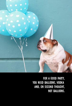 Vodka Required Funny Birthday Card