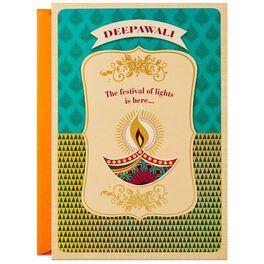 Deepawali Lamp Diwali Card, , large