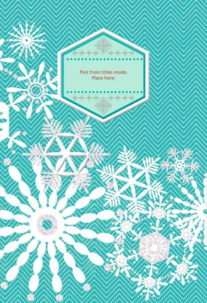 Shimmering Snowflakes Pick-a-Title Christmas Card for Grandpa