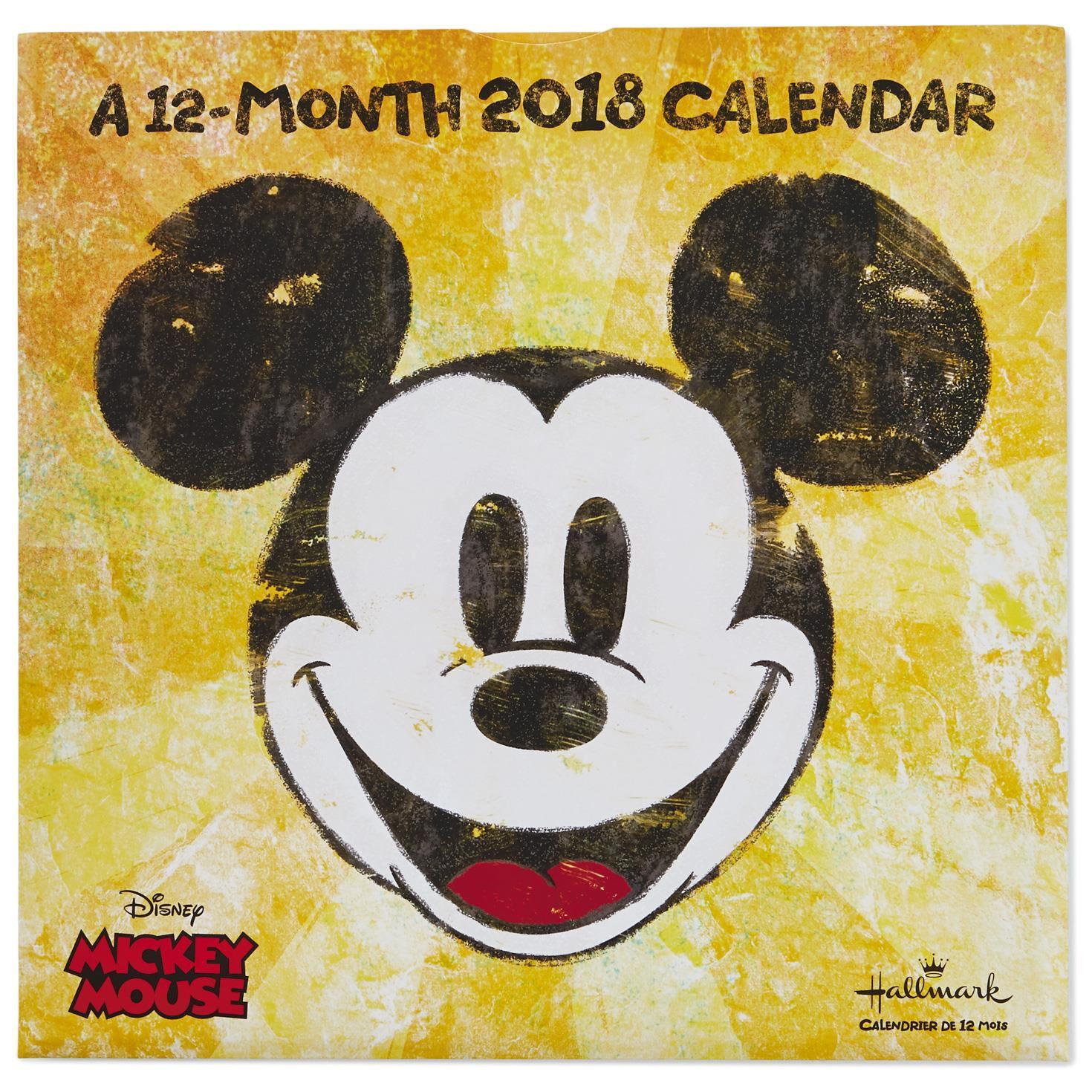 Pop Art Mickey Mouse 2018 Wall Calendar, 12-Month - Calendars - Hallmark