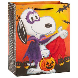 "Peanuts® Vampire Snoopy Medium Halloween Gift Bag, 9.5"","